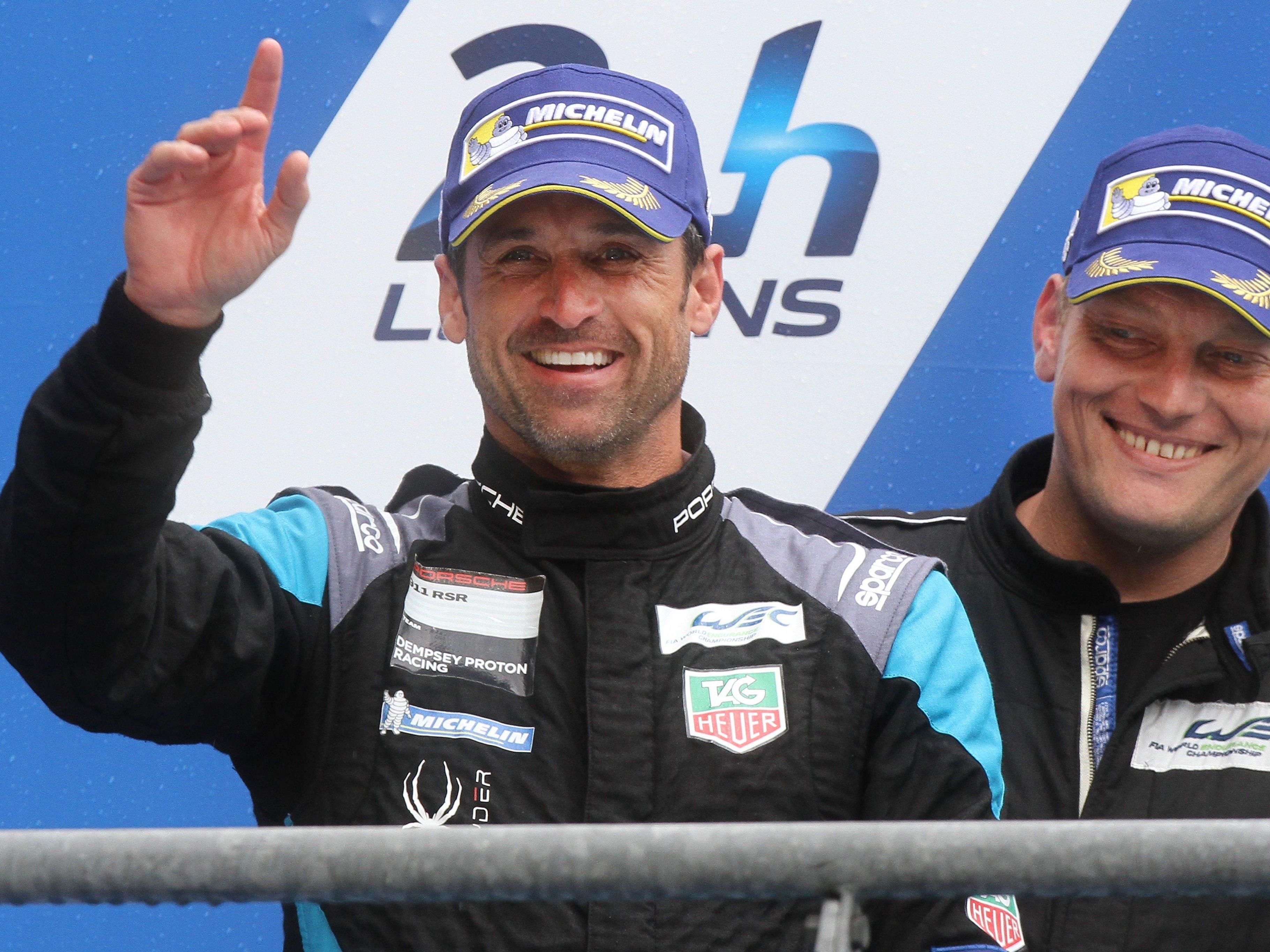 Hobbyrennfahrer Patrick Dempsey Feierte Zweiten Platz In Le Mans