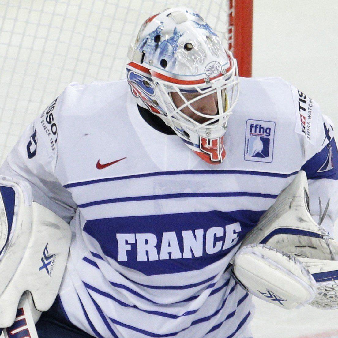 Florian Hardy Anfang Mai bei der Eishockey-WM für Frankreich im Einsatz.
