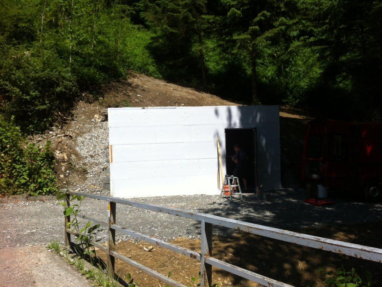 Pumpwerk Fraxern, Richtung Orsanka, Höhe Brücke. Hier wird auch das Kleinkraftwerk entstehen.