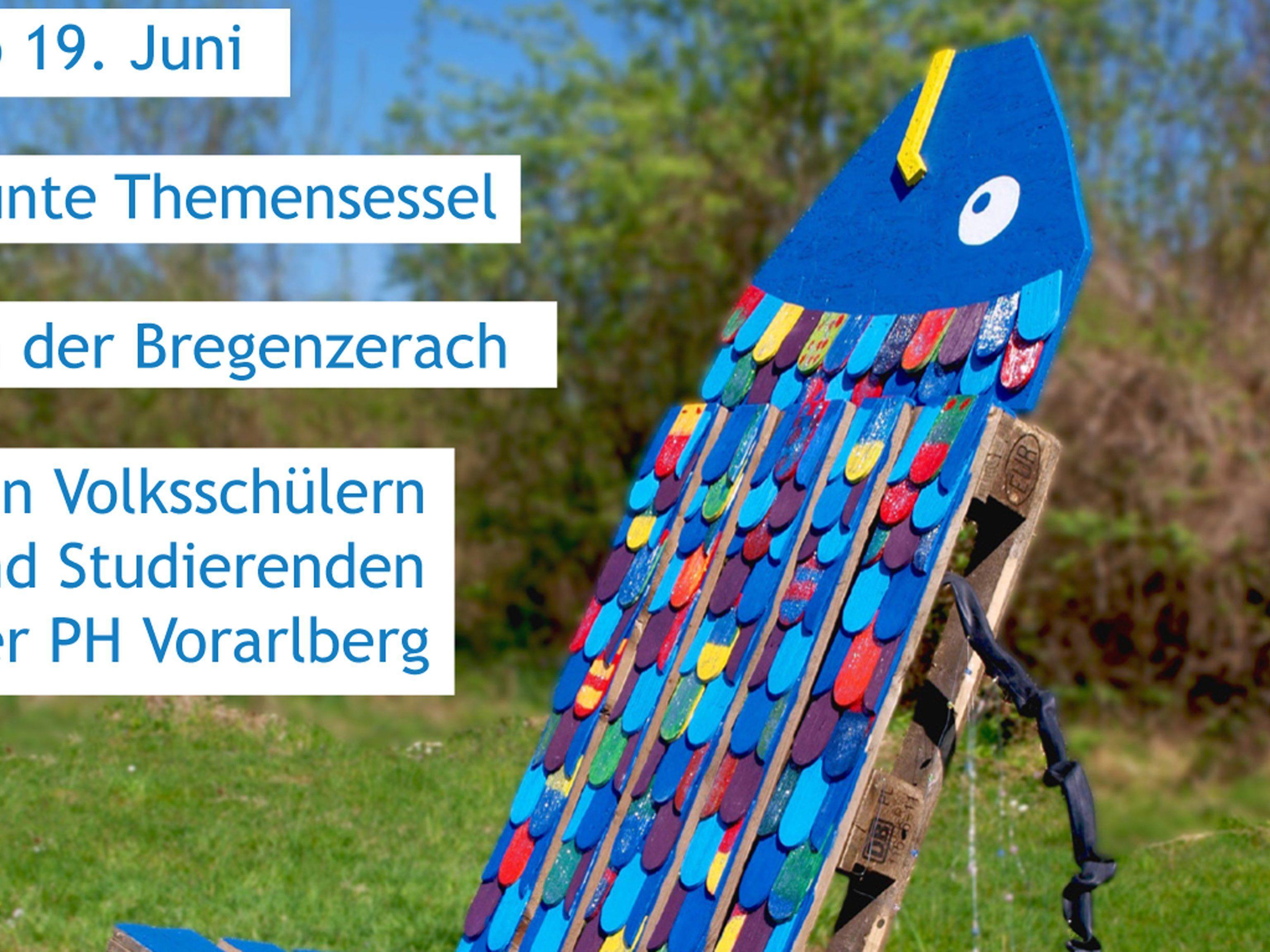 Ab 19. Juni finden sich die Themensessel entlang der Bregenzerach und laden dort zum Verweilen ein.
