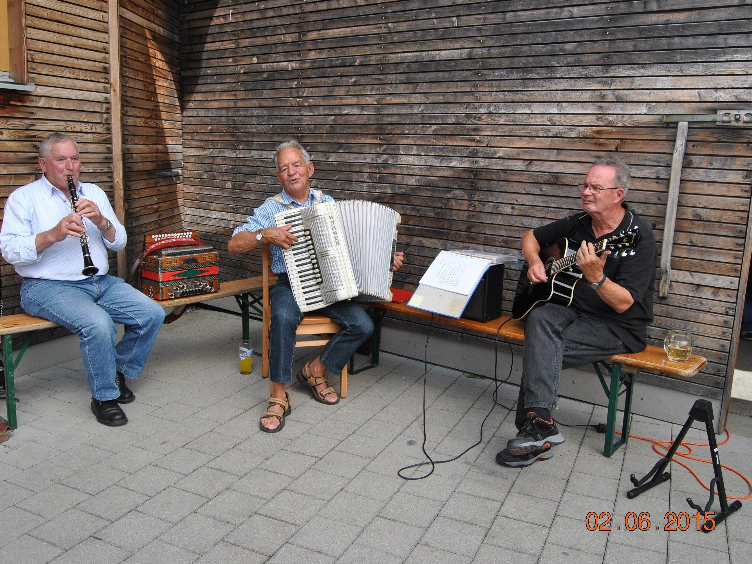 Die Musikanten sorgten für eine ausgezeichnete Stimmung