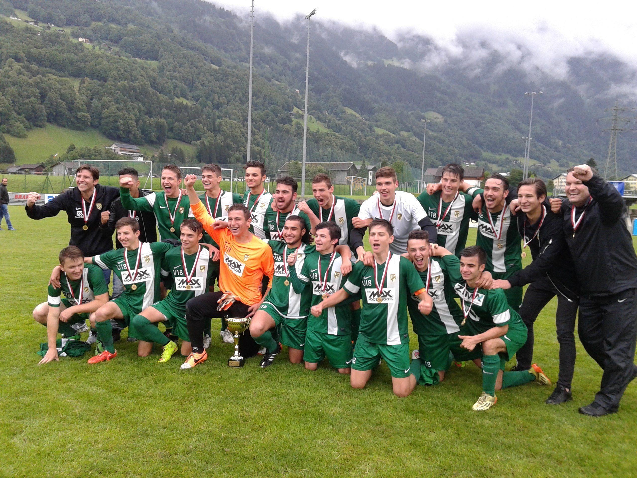 Die jungen Fußballer des SC Austria Lustenau sind neuer Vorarlberger U18 Landesmeister