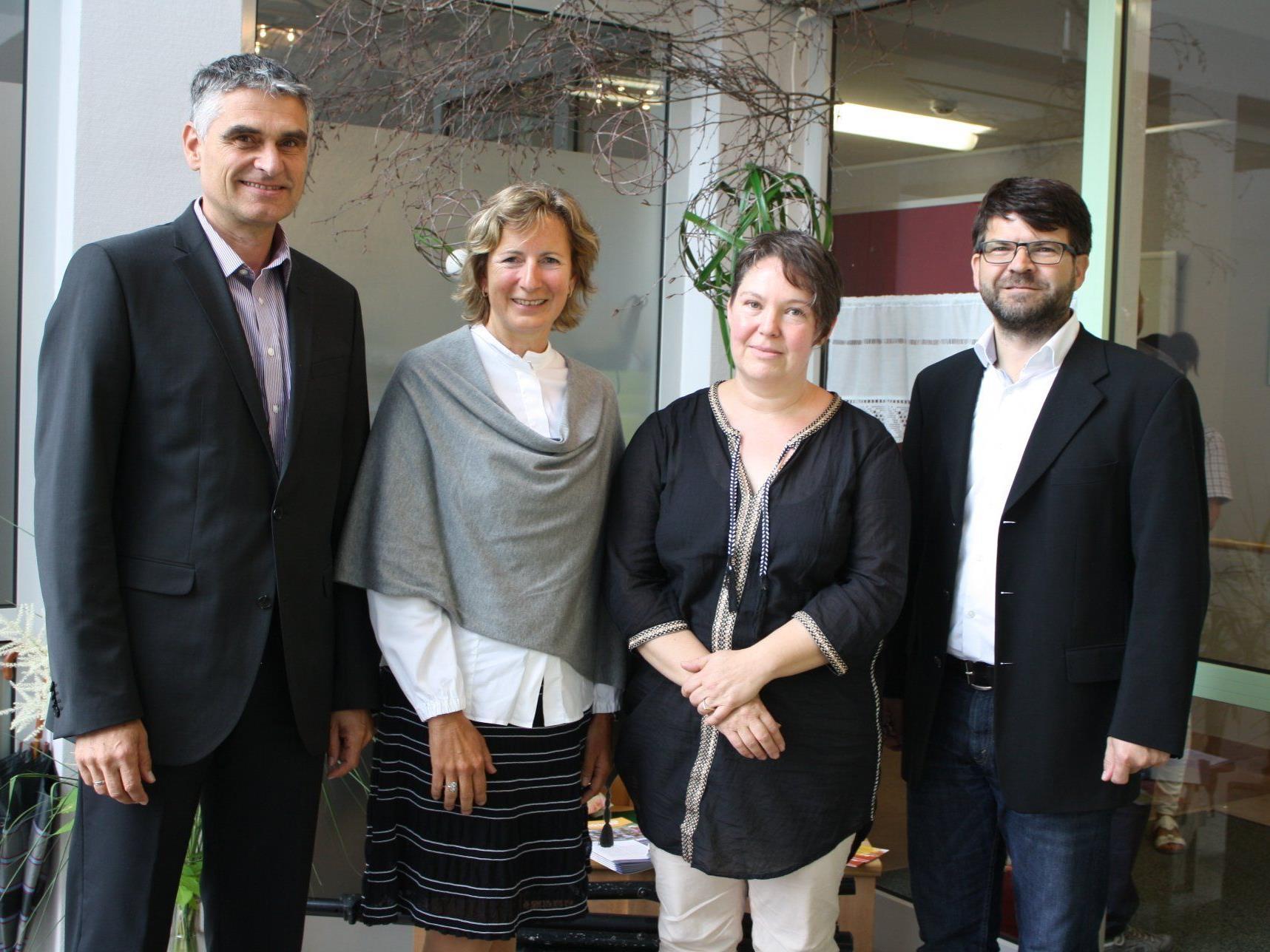 GF Harald Panzenböck, LT-Vizepräsidentin Gabriele Nussbaumer, Doris Raffeiner und Bgm. Gerhard Beer.
