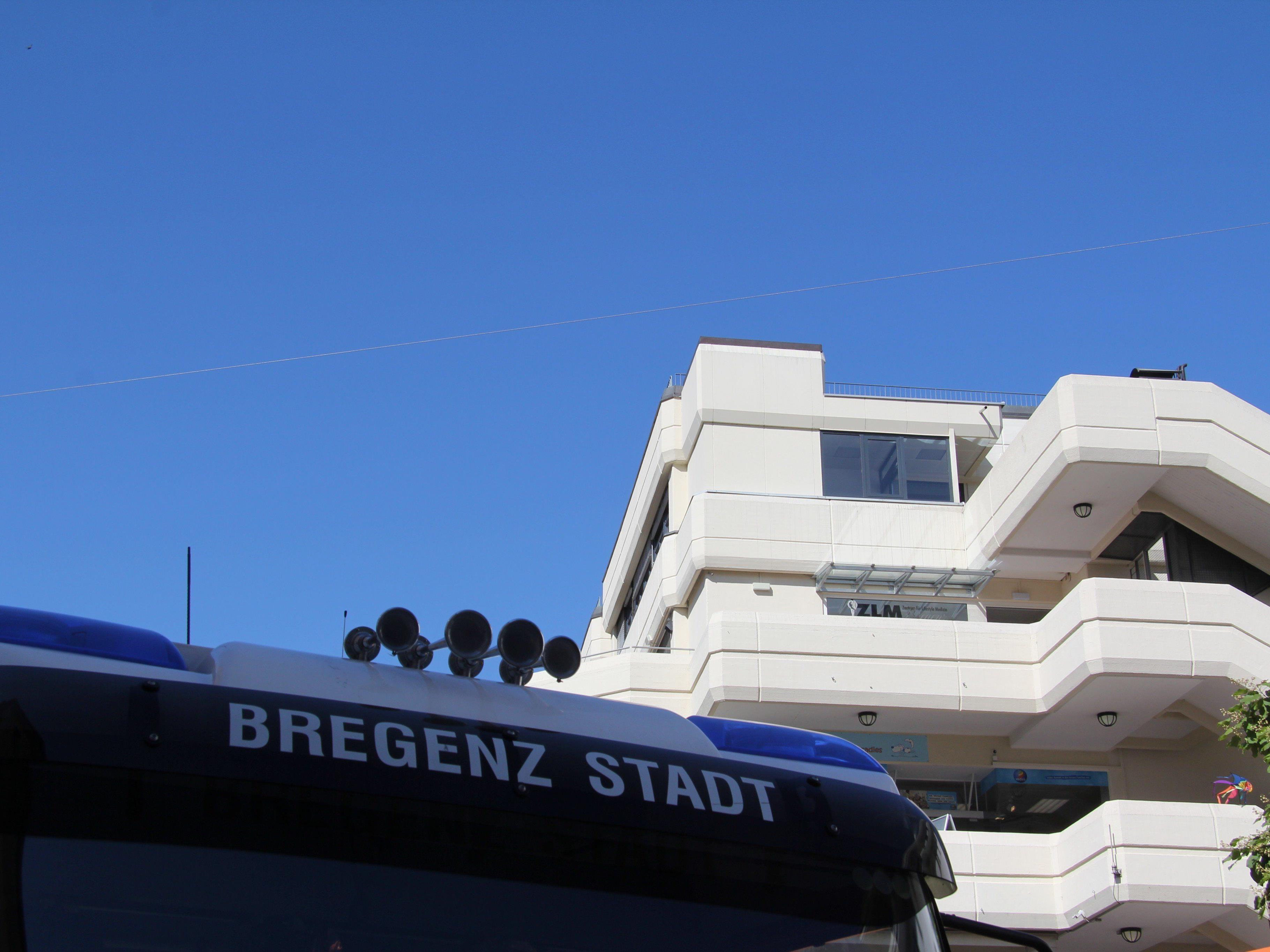 Starke Rauchentwicklung sorgte am Mittwoch für einen Feuerwehreinsatz in Bregenz