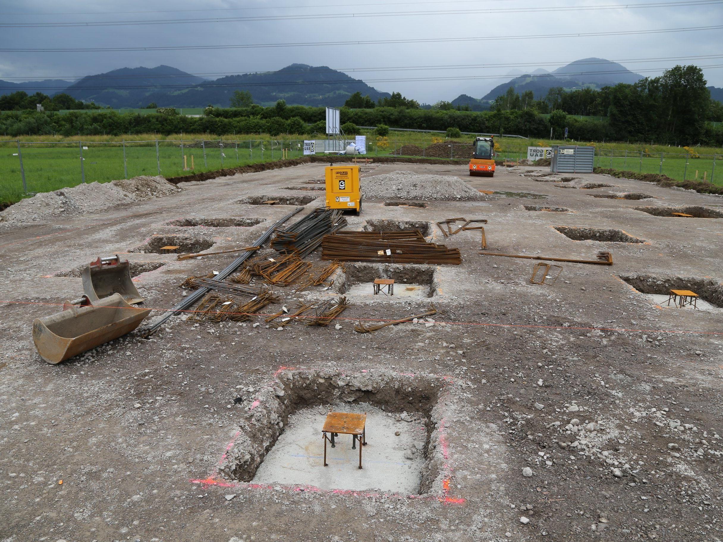 Im neuen Rankweiler Industriegebiet wird gearbeitet: Richter Fertigungstechnik wird sich am Römergrund ansiedeln.