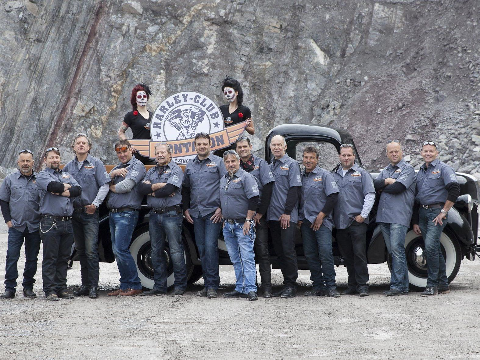 Höhepunkt der Bikerparty ist die Verlosung einer Harley Davidson