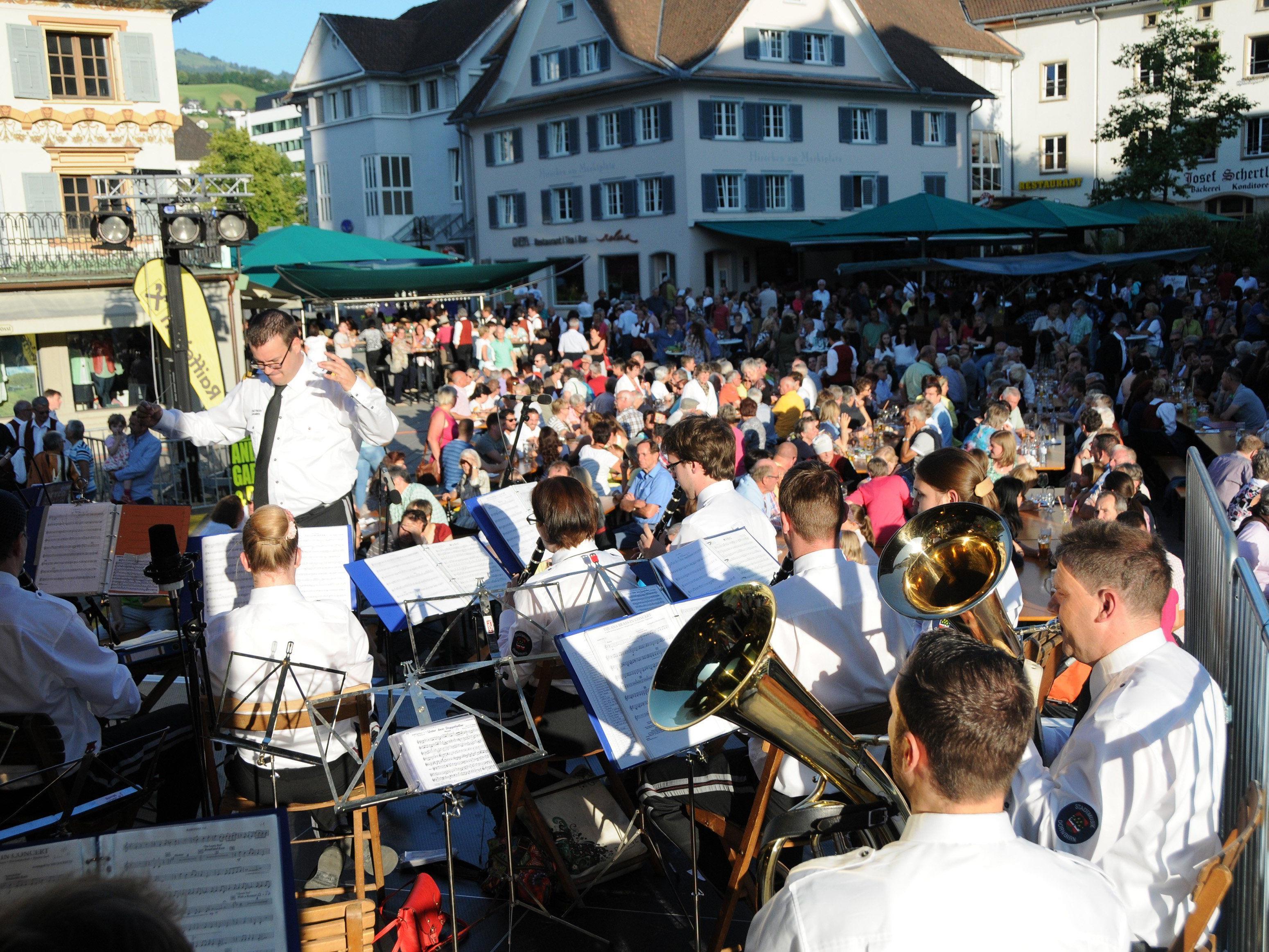 """Am 20. Juni findet auf dem Dornbirner Marktplatz der """"Längste Tag der Blasmusik"""" statt."""