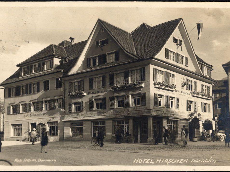 Gasthaus zum Hirschen, Spar- und Darlehenskasse, 1929