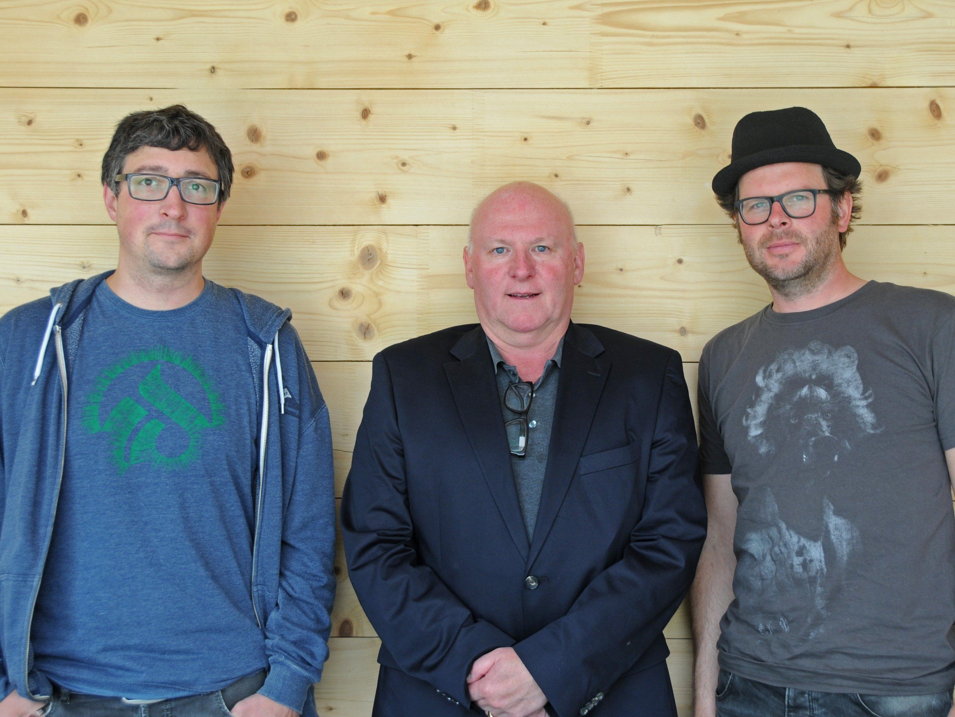 Die drei Kuratoren des Dornbirner Origano-Festivals: Hannes Hagen (Conrad Sohm), Roland Jörg (Kultur Stadt Dornbirn) und Peter Hörburger (Conrad Sohm)