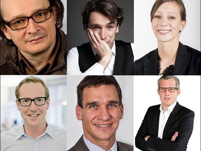 Top-Speaker beim VOL.AT FORUM: Bernhard Heinzlmaier, Boris Marte, Jana Hauck, Martin Dechant, Johannes Berger & Matthias Moosbrugger
