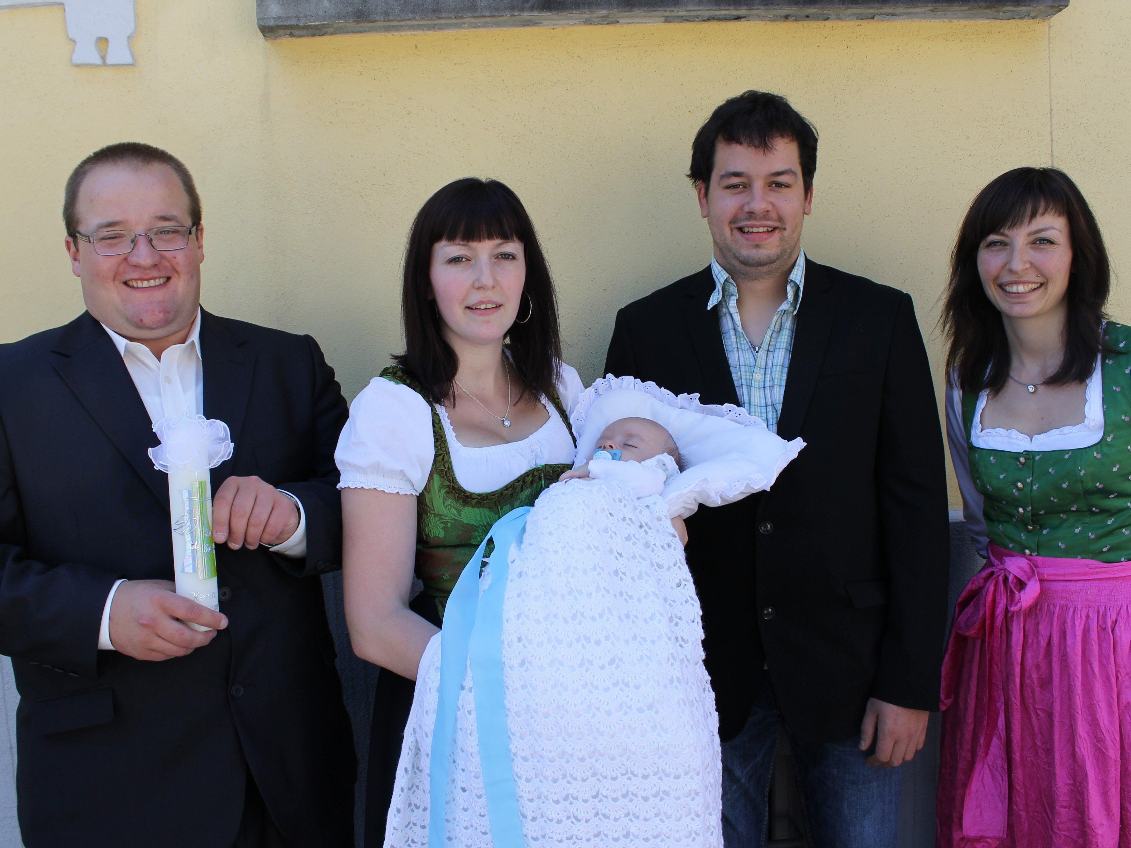 Kevin Rudigier wurde in der Pfarrkirche getauft