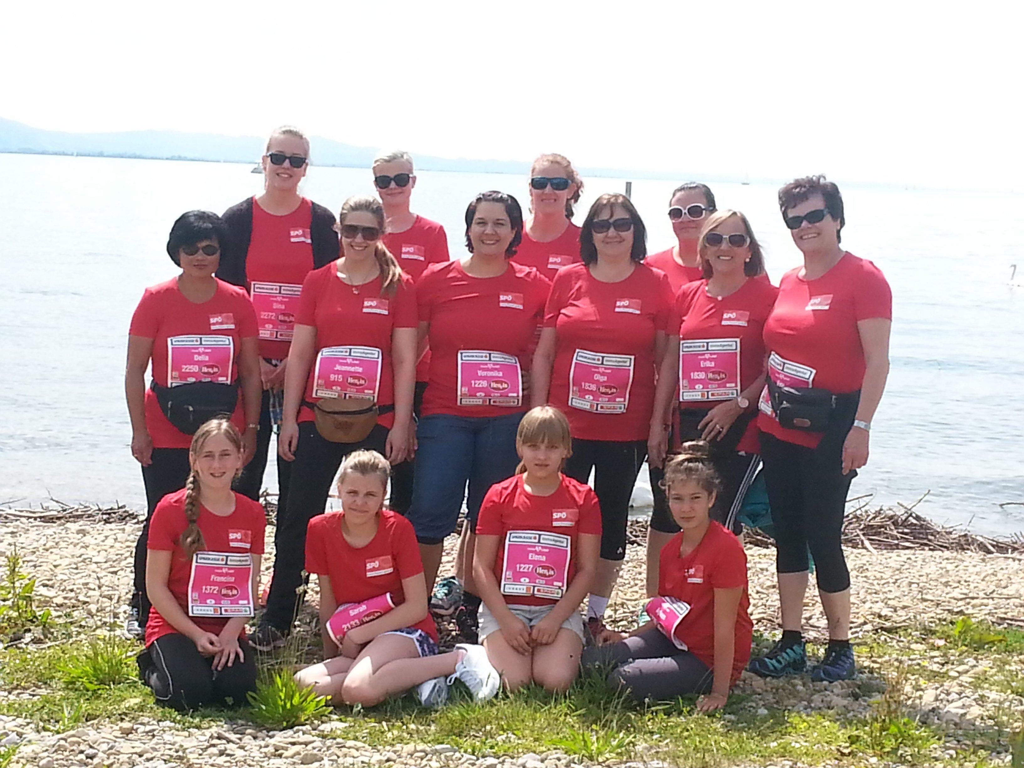 Das Team der SPÖ-Frauen beim Frauenlauf 2015