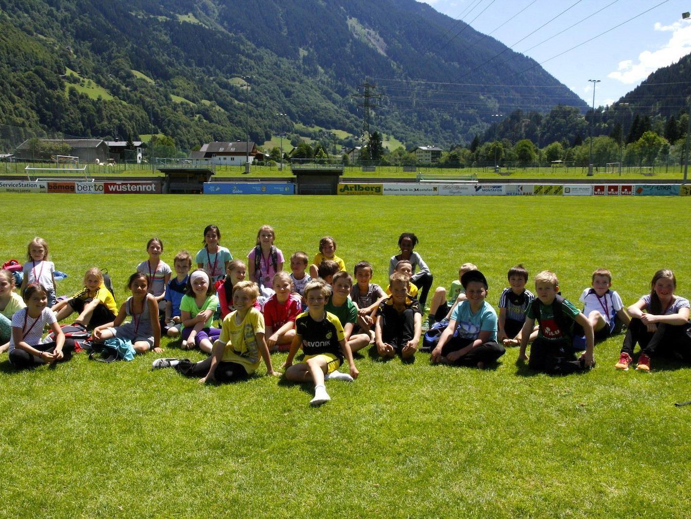 Die Silbertaler Teilnehmer des Volksschulen-Cup