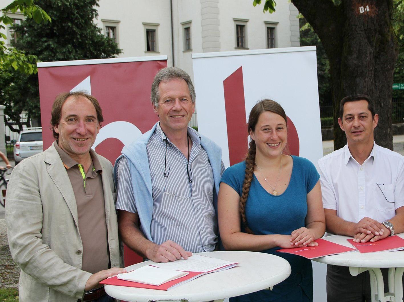 LR Johannes Rauch, Bgm. Richard Amann, Anna Waibel und StR. Martin Buder stellten das Projekt vor.