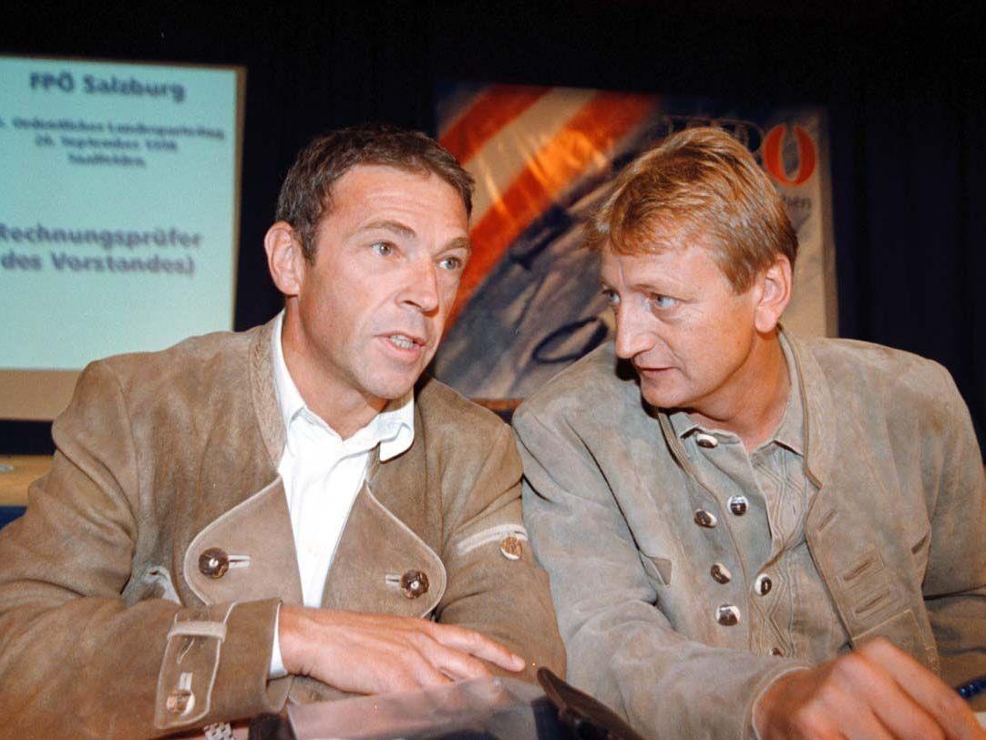 Geschichte wiederholt sich: Jörg Haider stellte Karl Schnell bereits 1998 unter Kuratel.