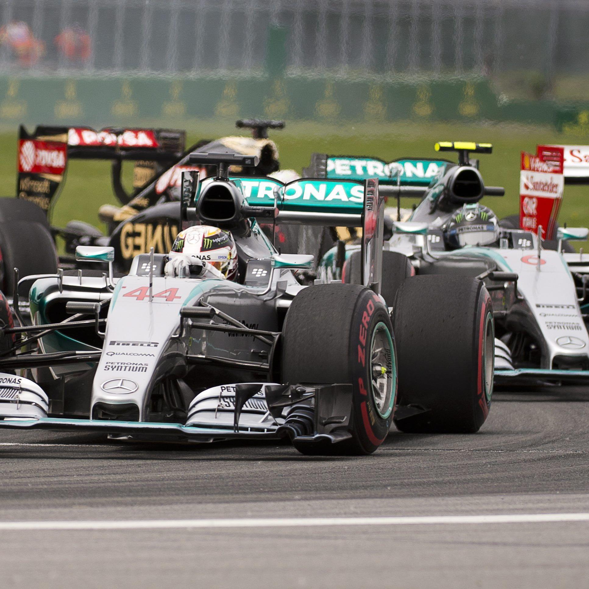 Hinter den beiden Silberpfeil-Piloten landete der Finne Valtteri Bottas im Williams auf Platz drei.