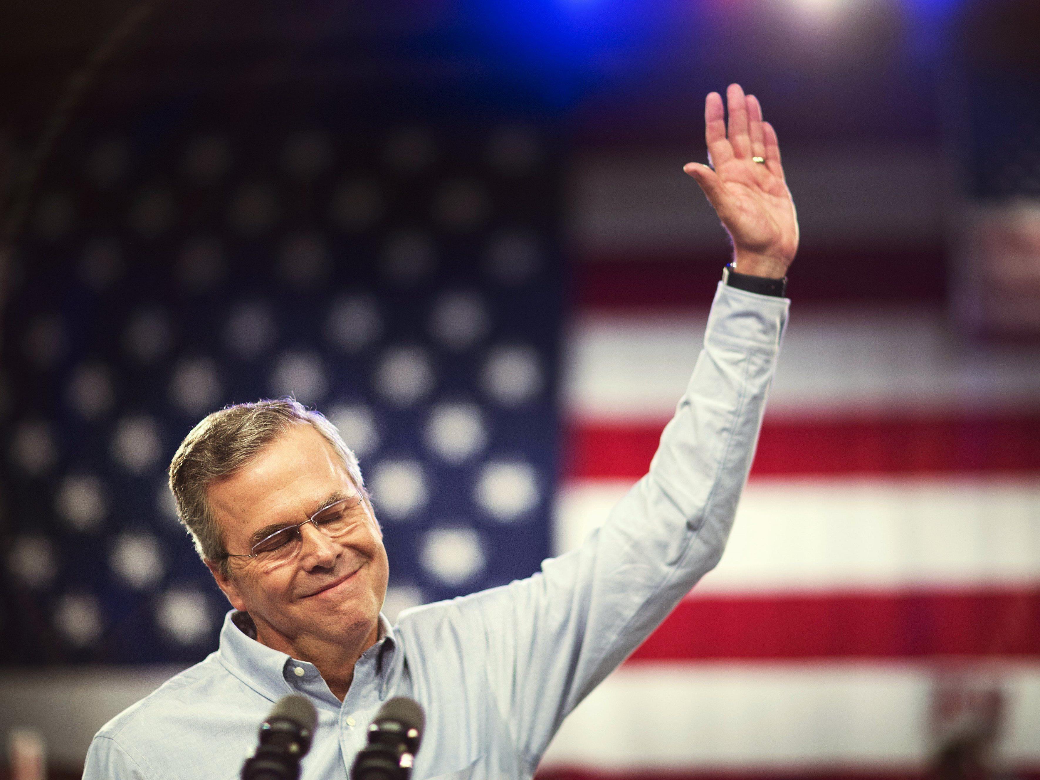 Er will's machen: Jeb Bush kandidiert als dritter der Bush-Dynastie für das Amt des US-Präsidenten.