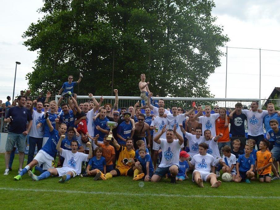 Der FC Lustenau am Samstag den Meistertitel