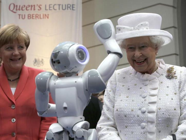 Queen besuchte auch die Technische Uni in Berlin