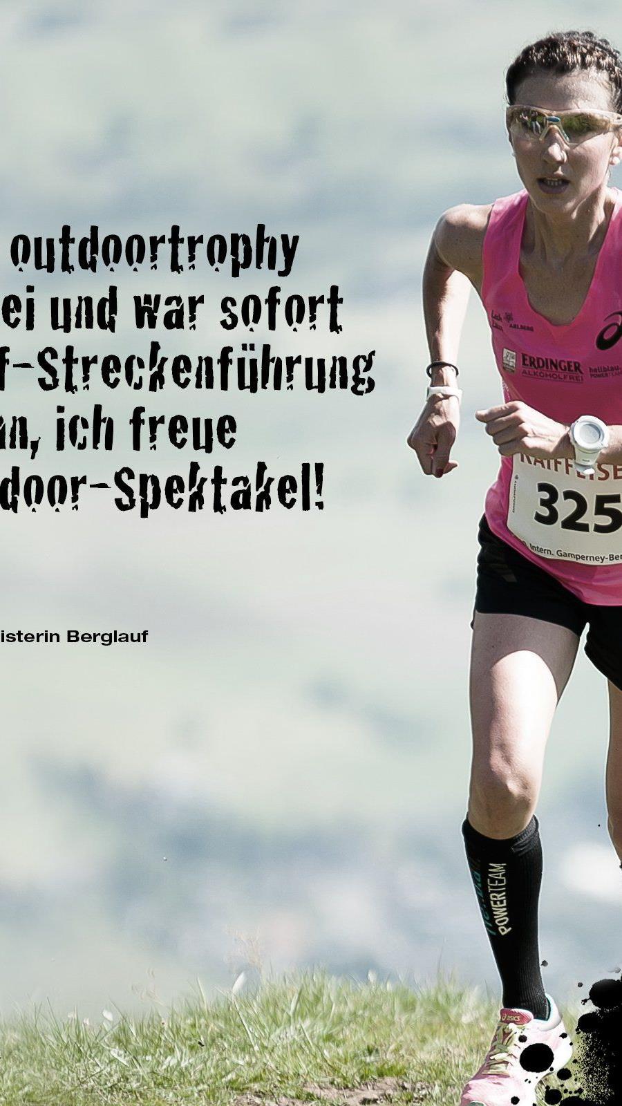 Berglauf-Aushängeschild Sabine Reiner aus Dornbirn startet bei der Outdoor-Trophy in Lingenau