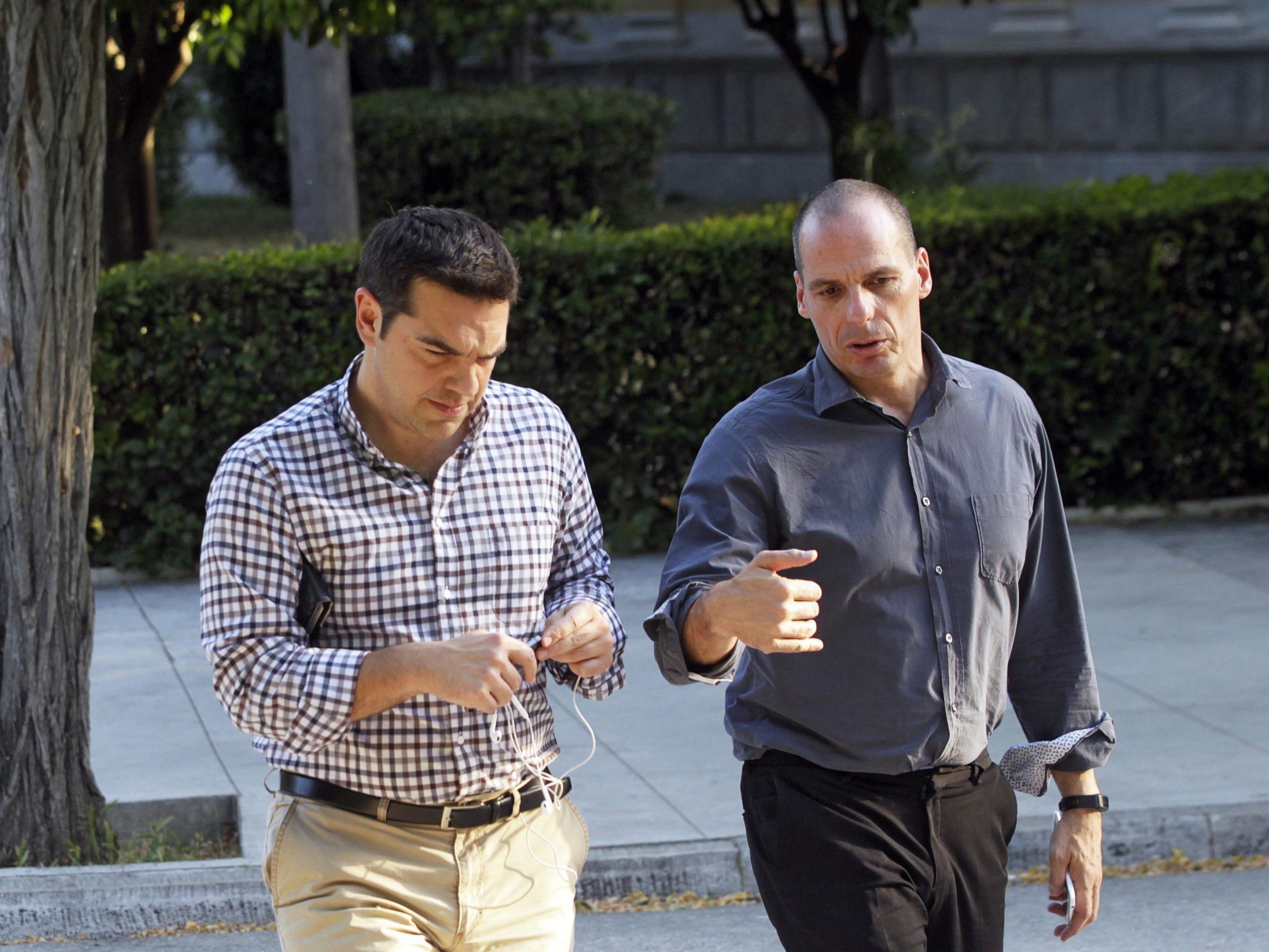Tsipras und Varoufakis - vereint gegen die Gläubiger.