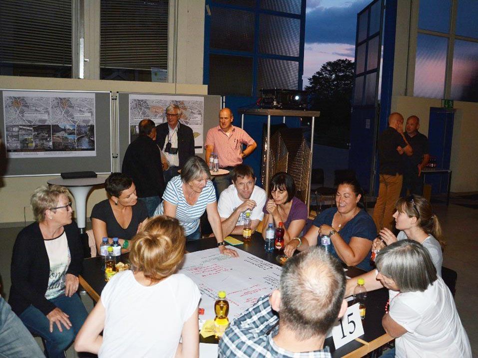Die Bürger brachten sich in Workshops aktiv in die Planung ein.