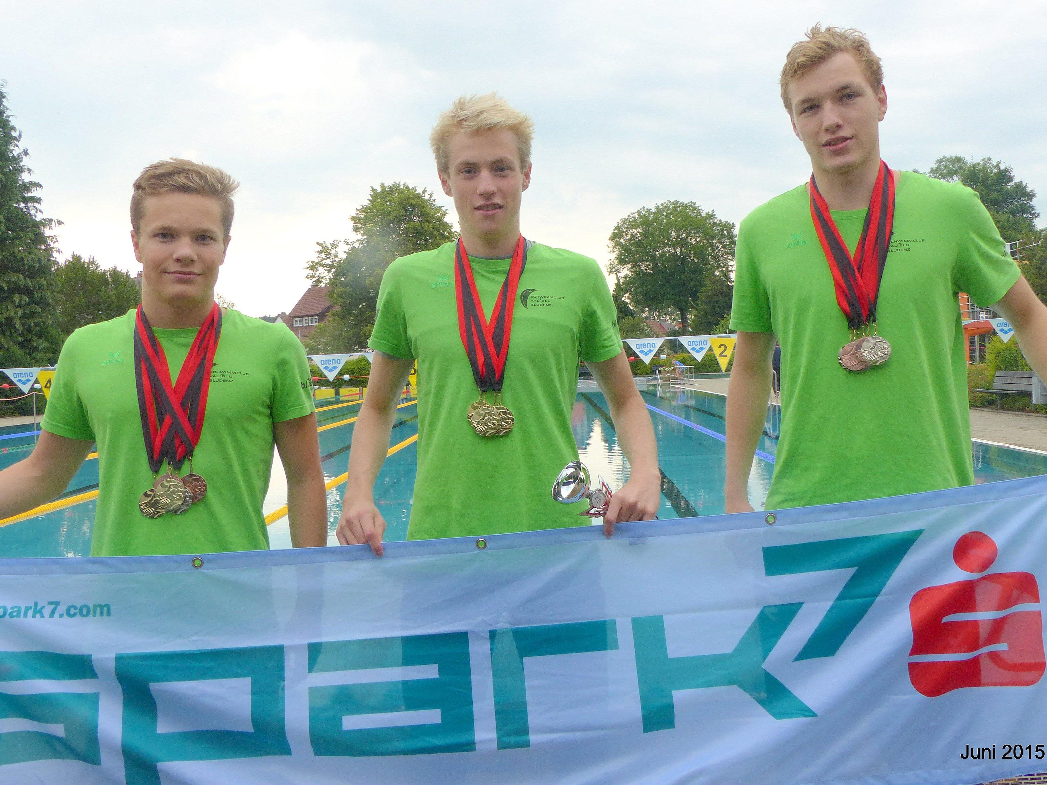 Nicolas Pock, Jan Niedermayer und Mathias Lisch (v.l.).