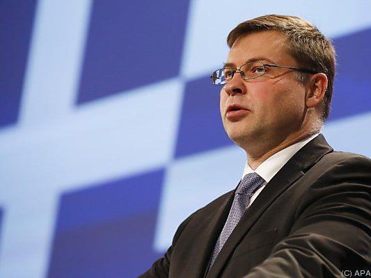 Dombrovskis kündigte die Auszahlung an