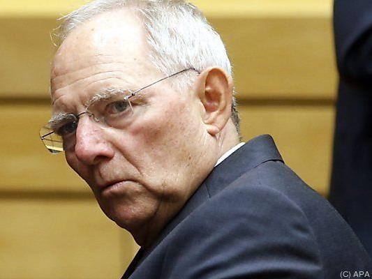 Harte Worte vom deutschen Finanzminister Schäuble