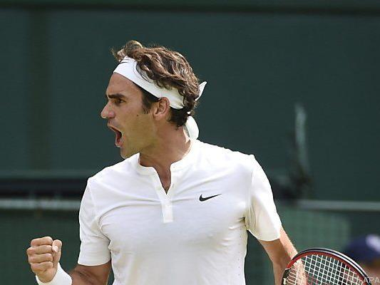 Federer ist eine Runde weiter
