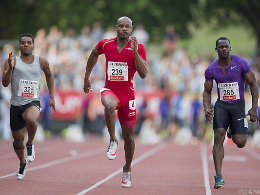 Powell war in der Schweiz der Schnellste über die 100 Meter
