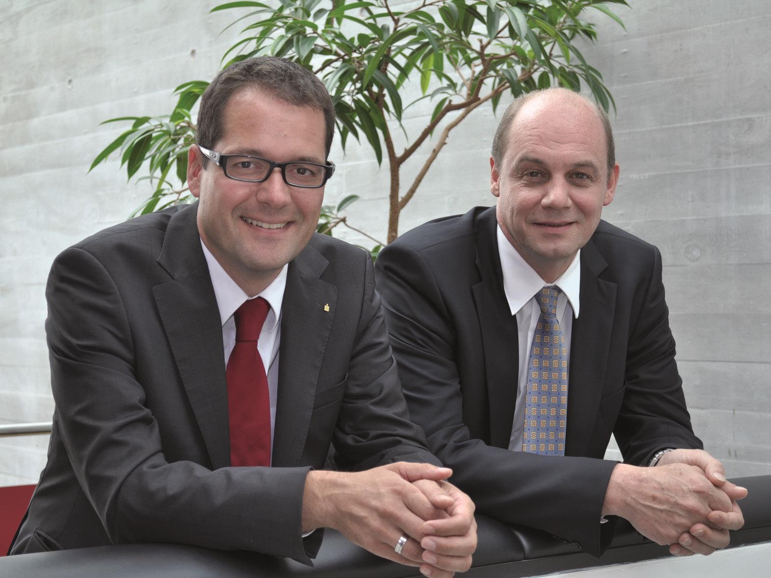 Die Vorstandsdirektoren der Sparkasse Bregenz freuen sich über die Auszeichnung.