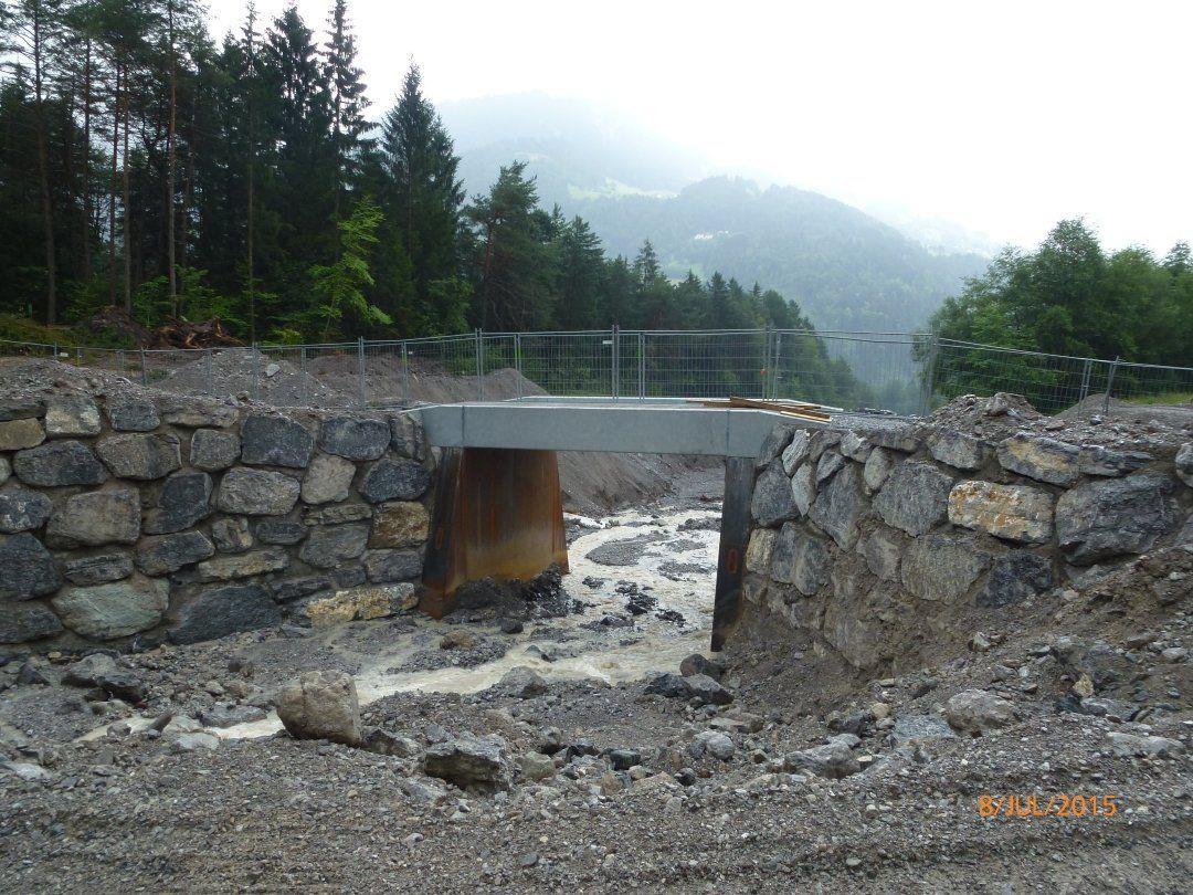 Die Bauarbeiten im Mustergielbach stehen kurz vor der Fertigstellung.