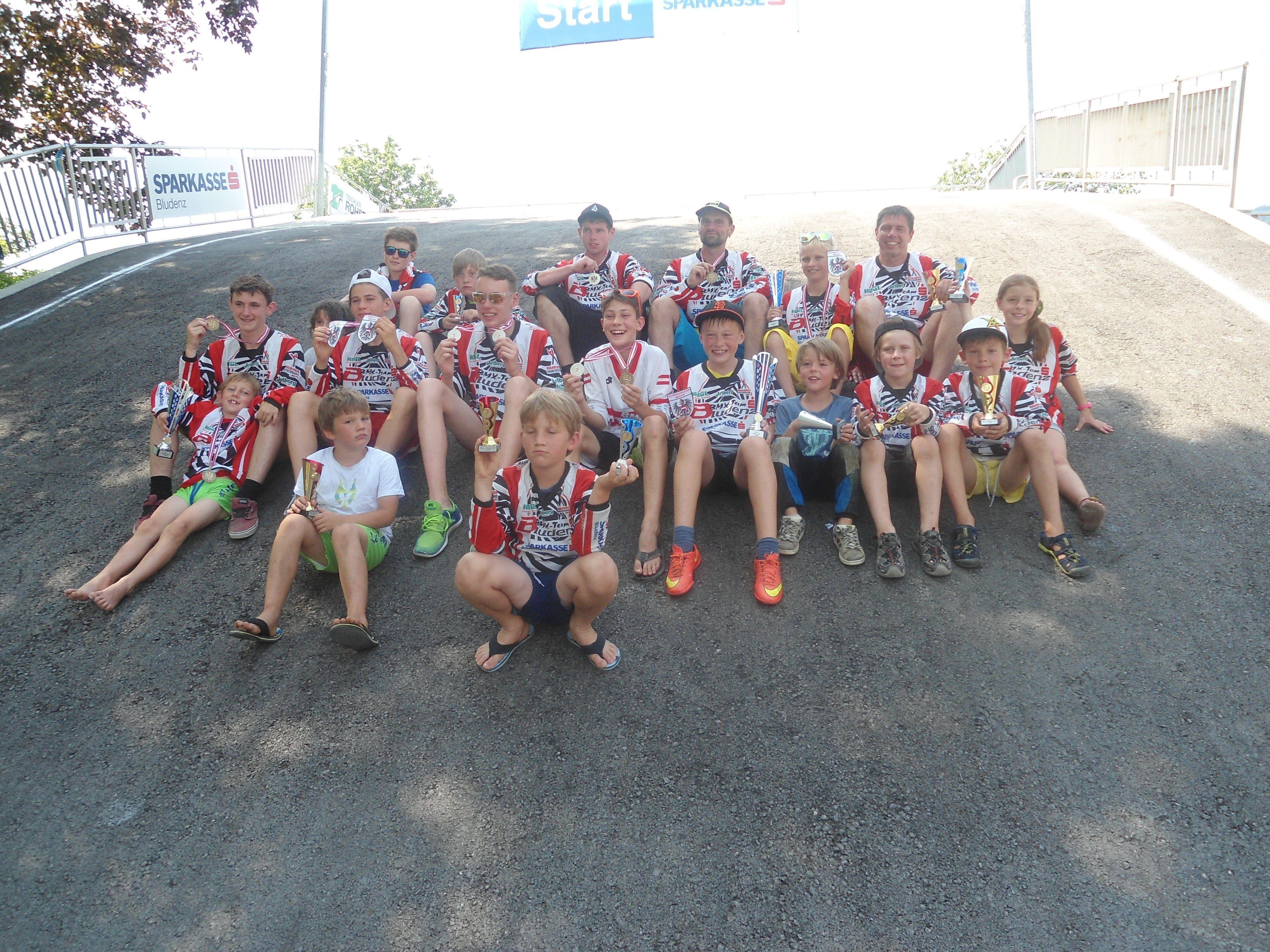 Das erfolgreiche Bludenzer BMX-Team