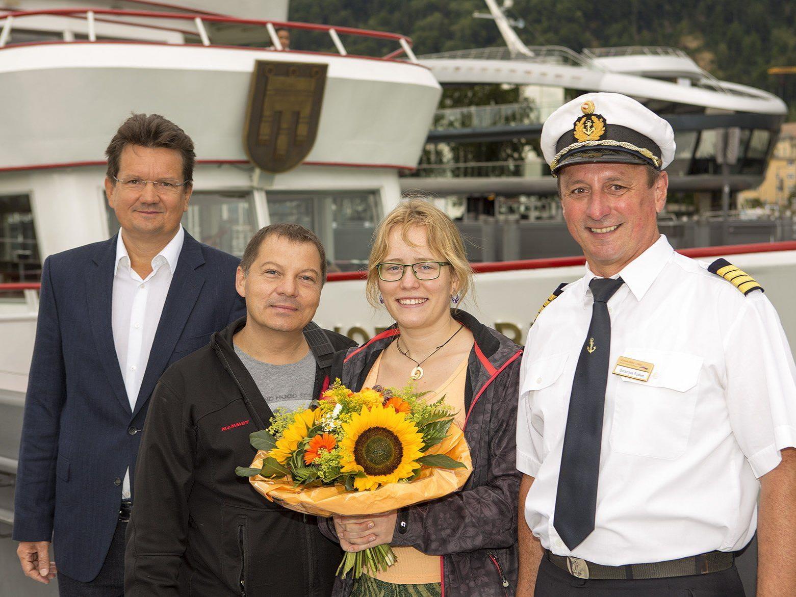 Der sieben Millionste Fahrgast darf sich über einen Gutschein für eine weiter Bodensee-Kreuzfahrt freuen.