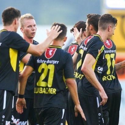 Altach jubelte über den Einzug in die zweite Cup-Runde.