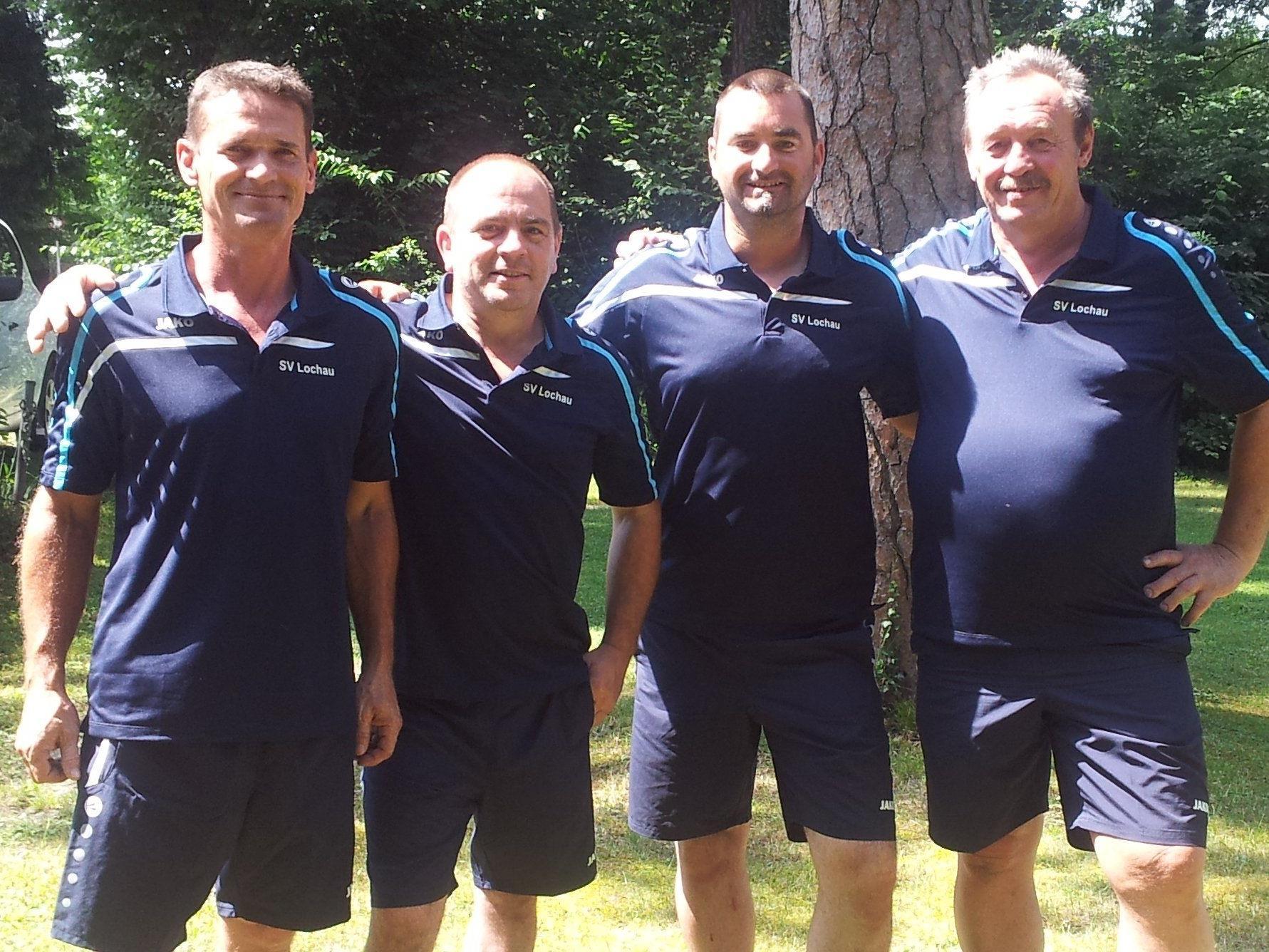 Harald Rüscher, Hannes Tscherner, Mannschaftsführer Robert Pienz sowie Wilfried Mallin