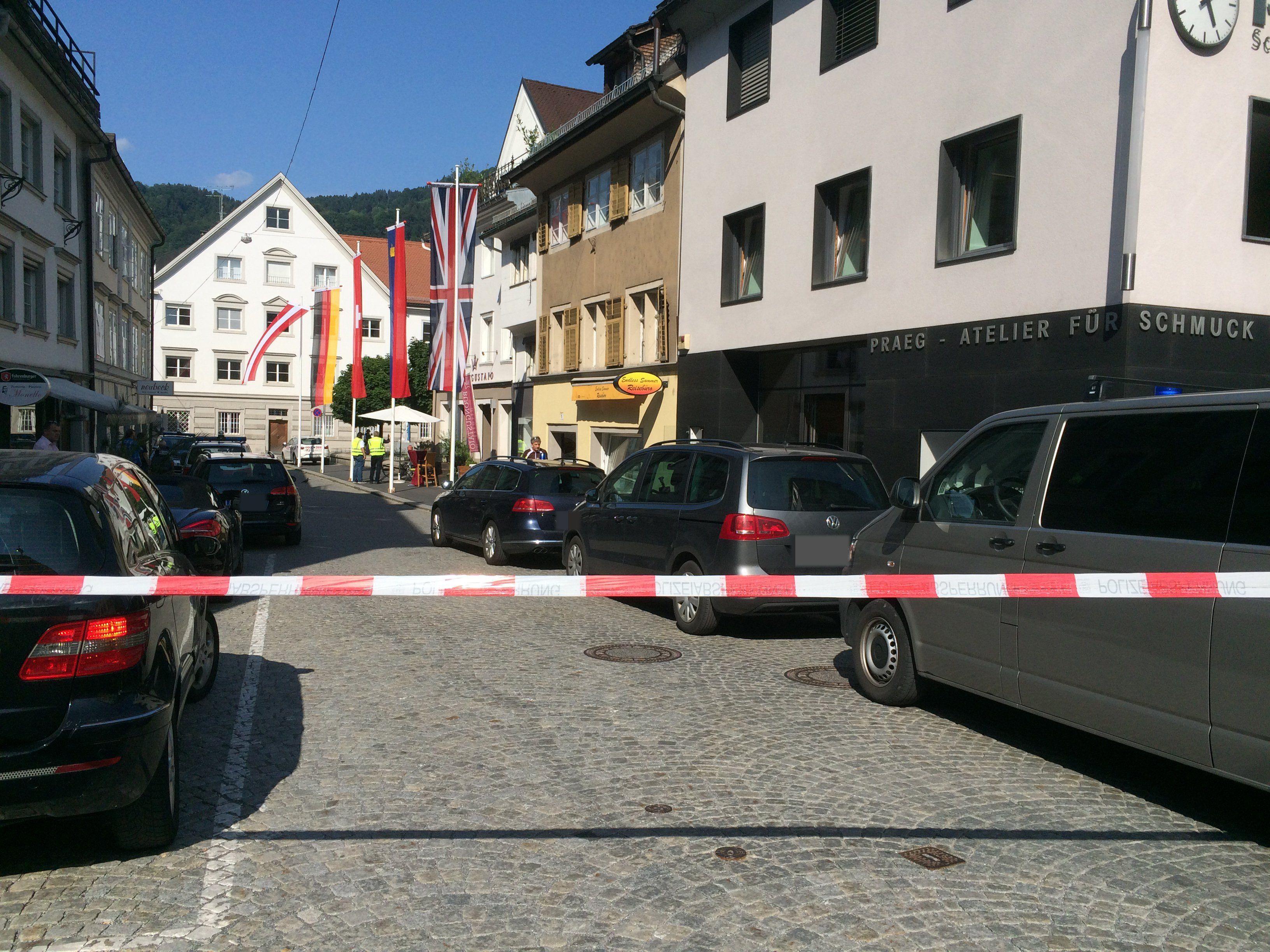 Polizeieinsatz in Bregenz.