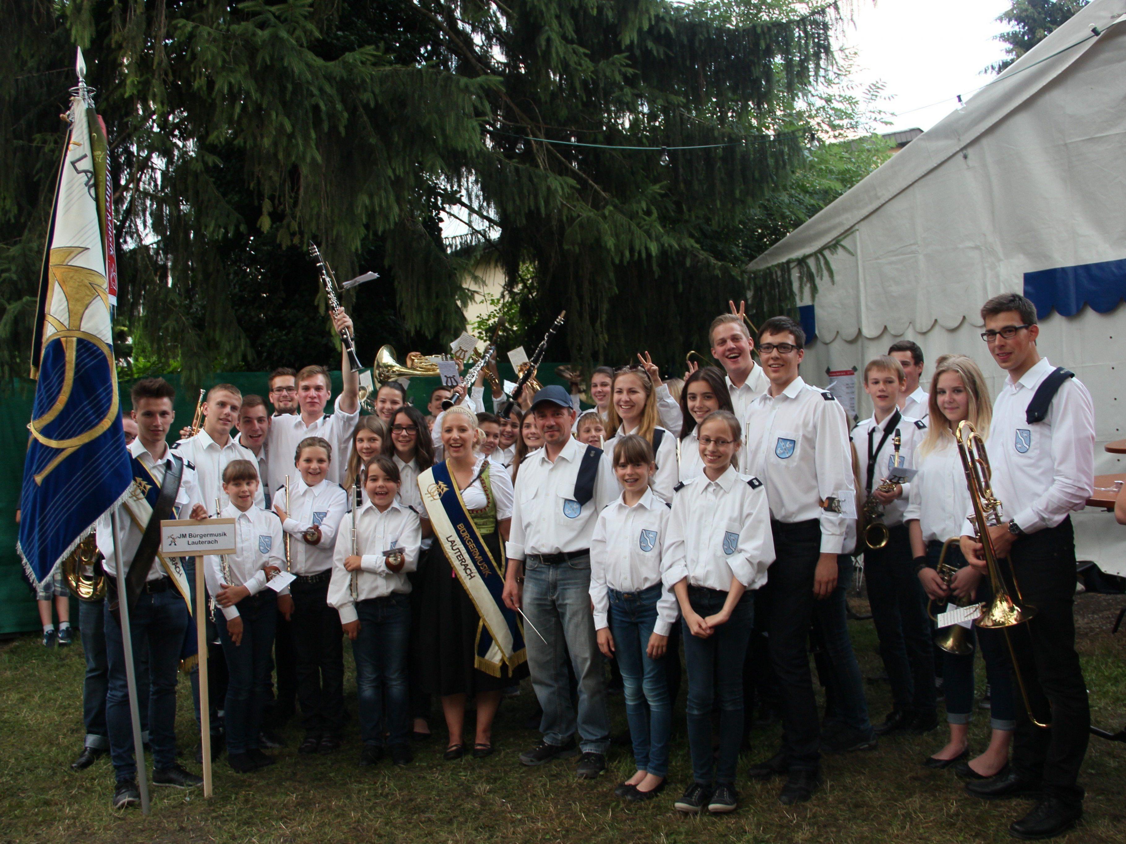 Jugendkapelle Lauterach beim Sandarfäscht in Lustenau