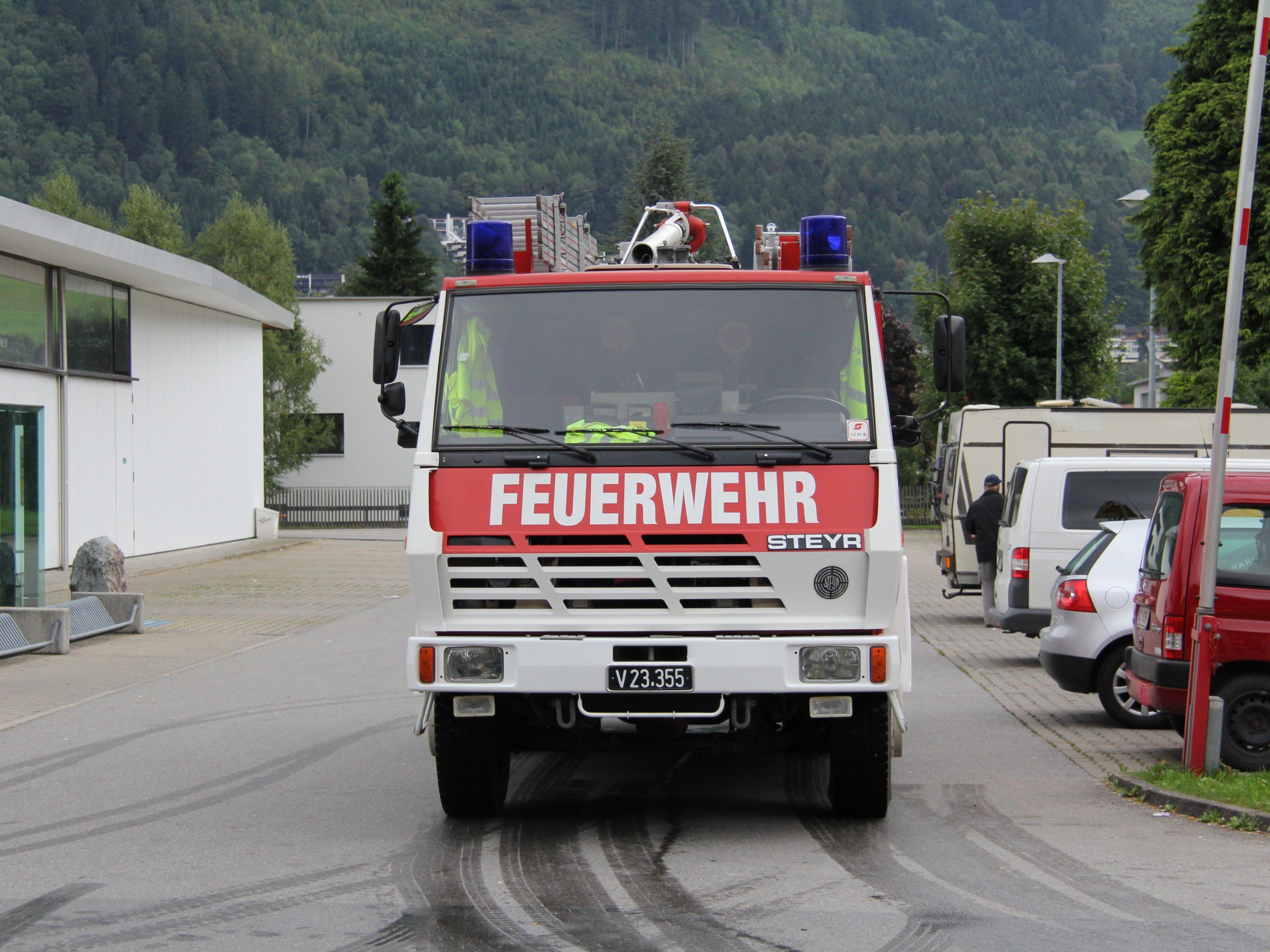 Die Feuerwehr Bludenz wurde zu einem tierischen Einsatz gerufen.