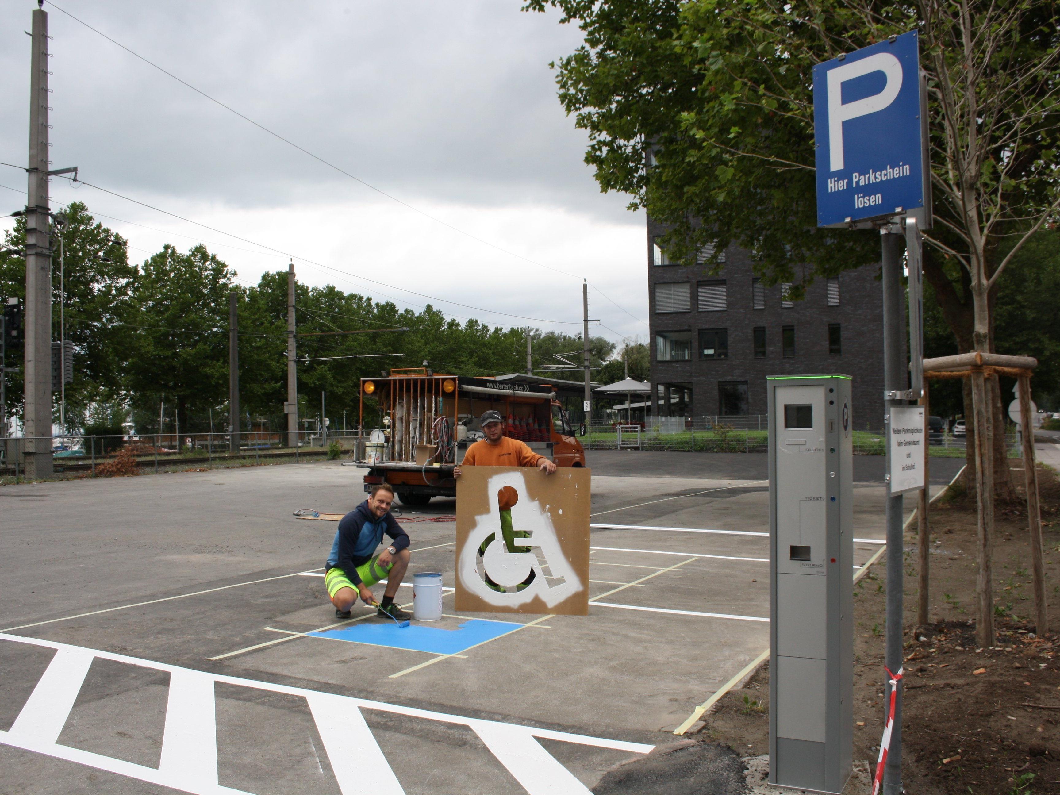 Auf dem neuen gemeindeeigenen Stellwerk-Parkplatz am Bahnhof Lochau gibt es nach den entsprechenden Adaptierungsarbeiten nun rund 50 weitere bewirtschaftete Parkplätze.
