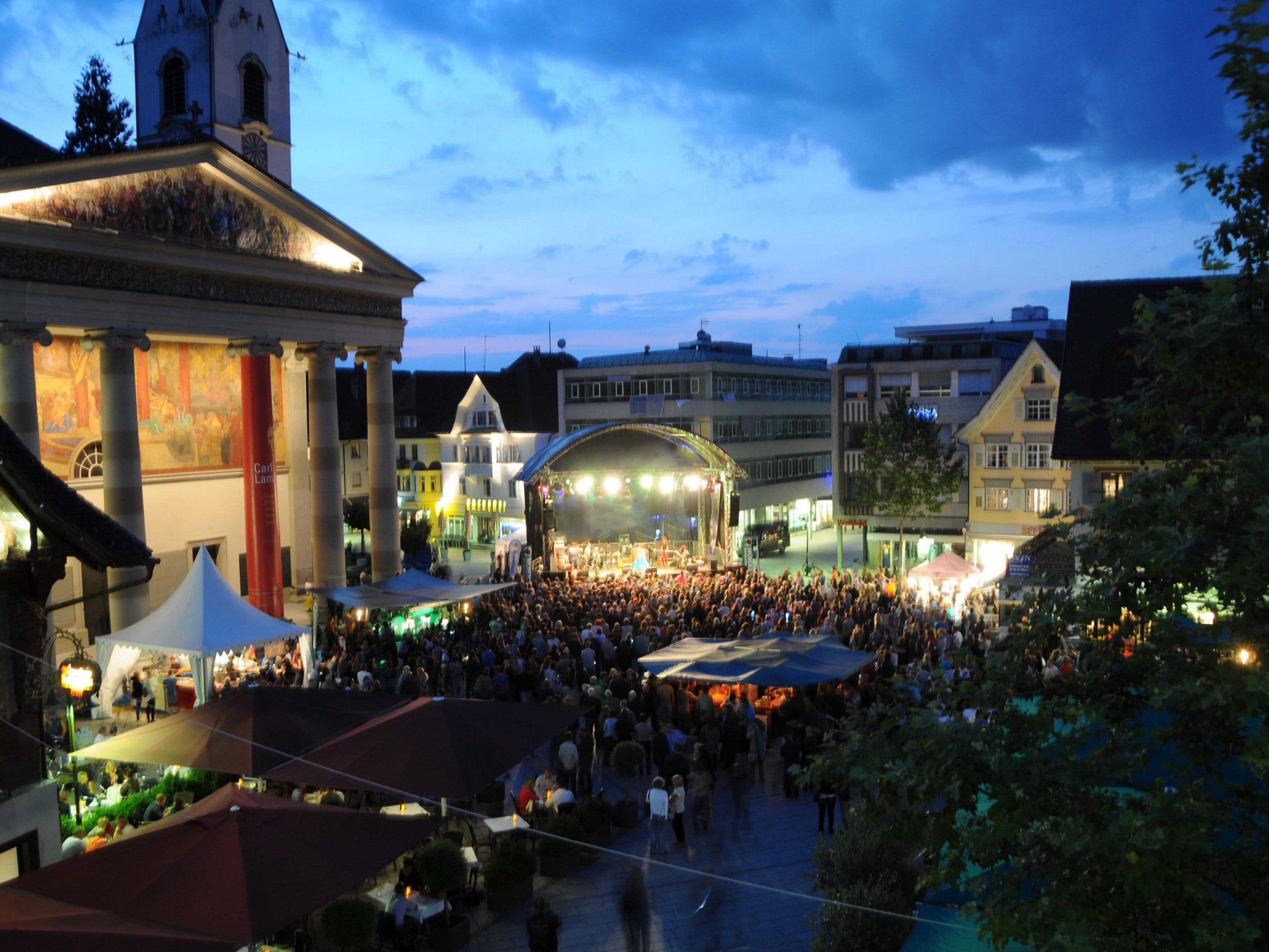 Talente präsentieren sich an jedem zweiten Samstag im August auf dem Marktplatz in Dornbirn.