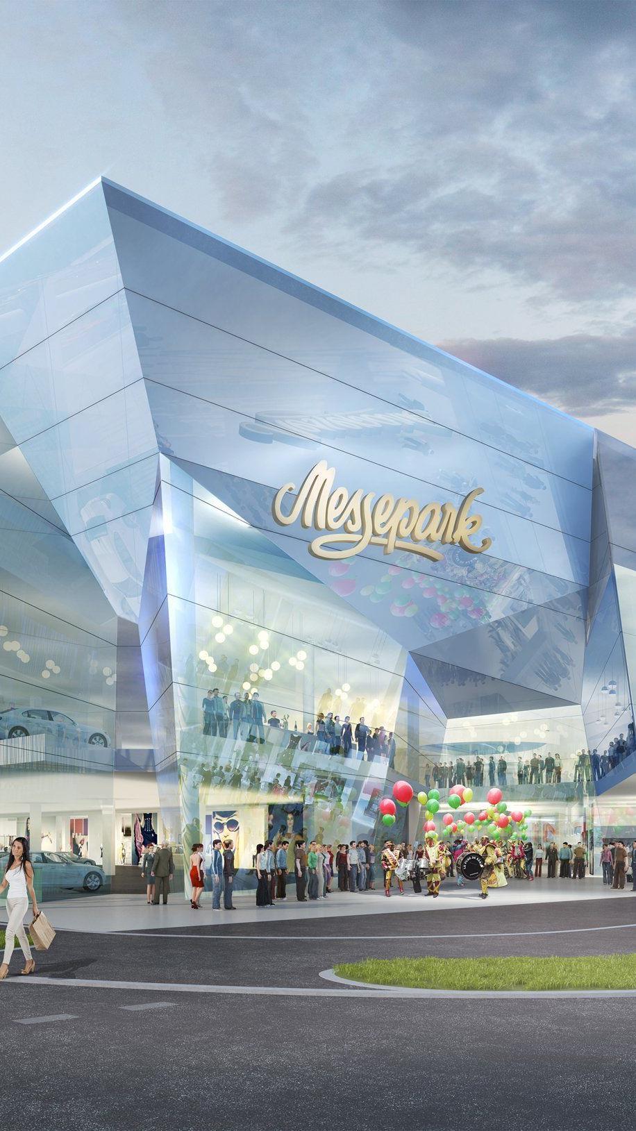 So soll er aussehen, der modernisierte und erweiterte Messepark.