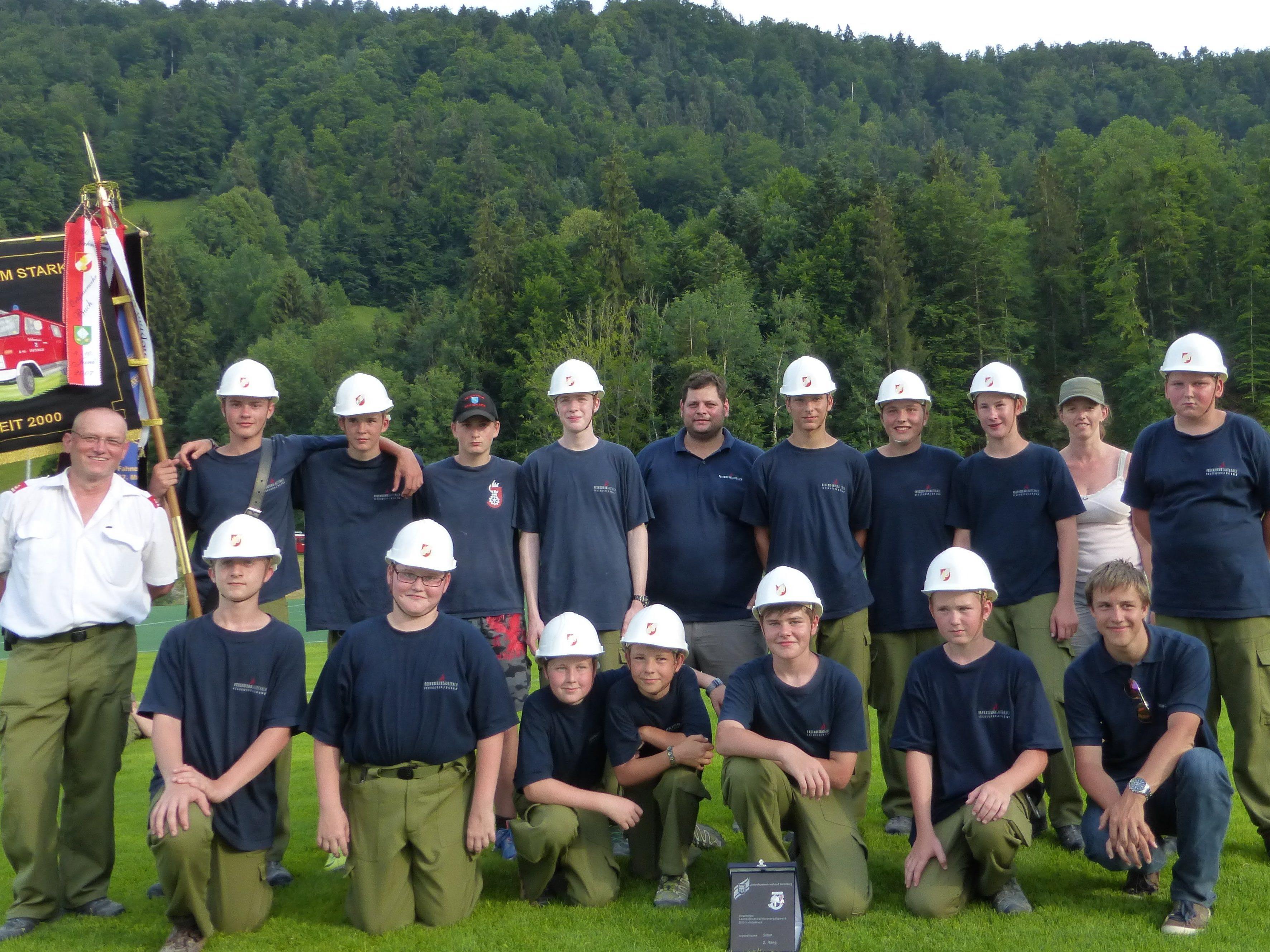 Erfolgreiche Feuerwehrjugend Lauterach beim Leistungswettbewerb in Andelsbuch
