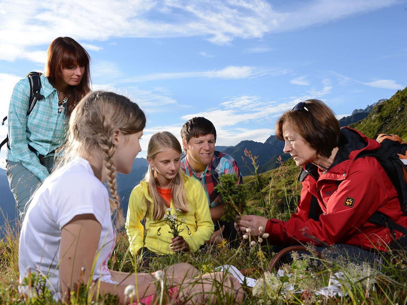 Die Kräuterwanderung ist eines der Highlights des Sommerprogramms in der Silvretta Montafon.
