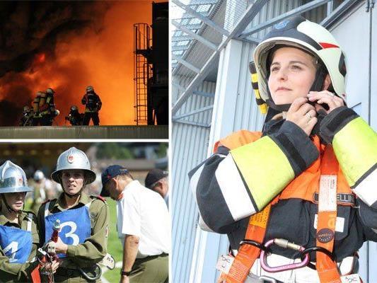 Nur 4 von 100 Feuerwehrlern in Vorarlberg sind Frauen.