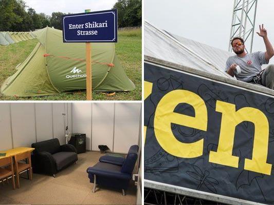 Das 26. Szene Openair hat erstmals ein Zelthotel.