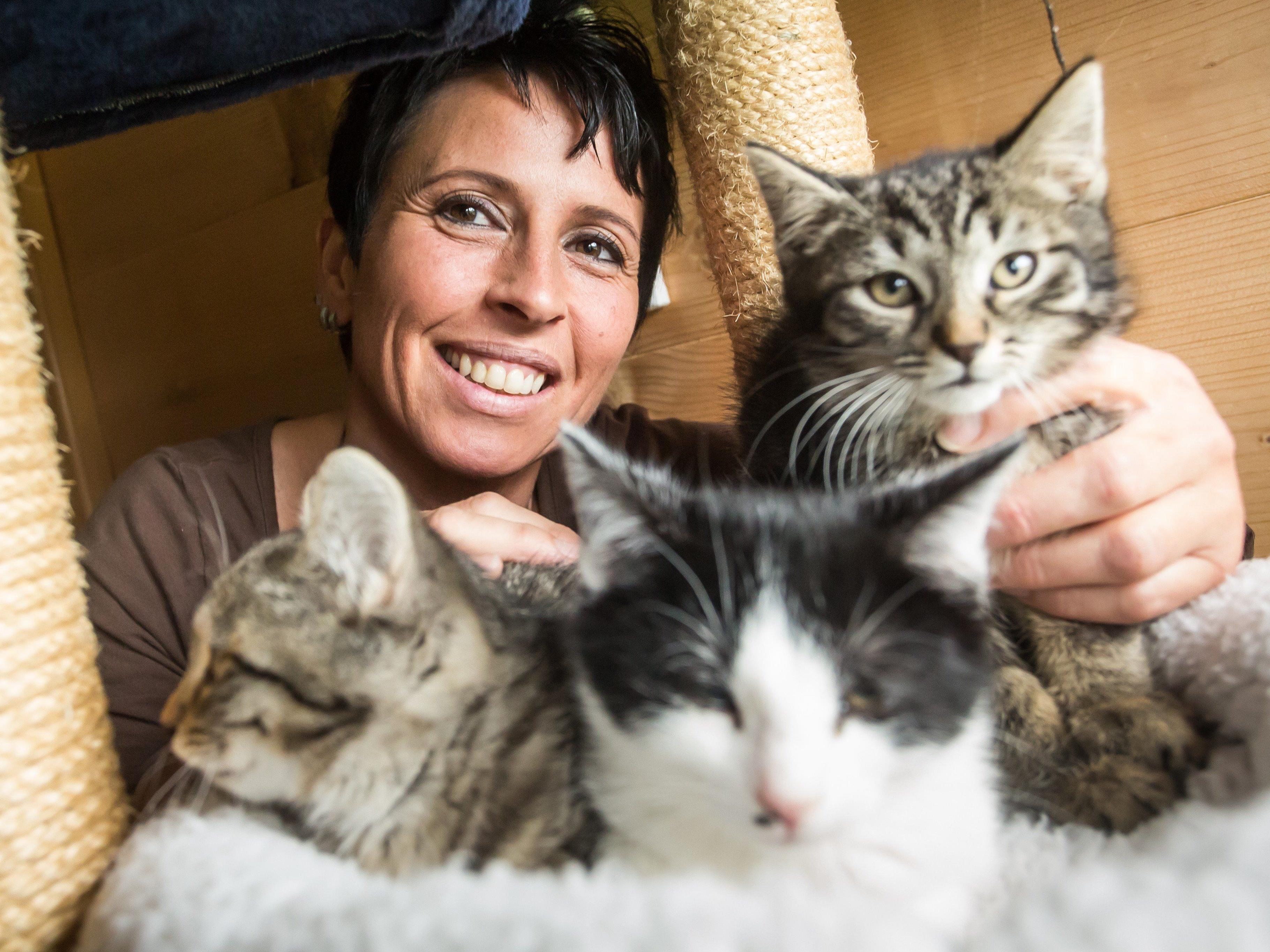 Tierschützerin aus Leidenschaft und Überzeugung: Alexandra von der Katzenpflegestelle Vandans.