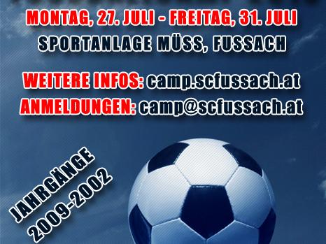 Fussballcamp 2015 - Sei auch du dabei!