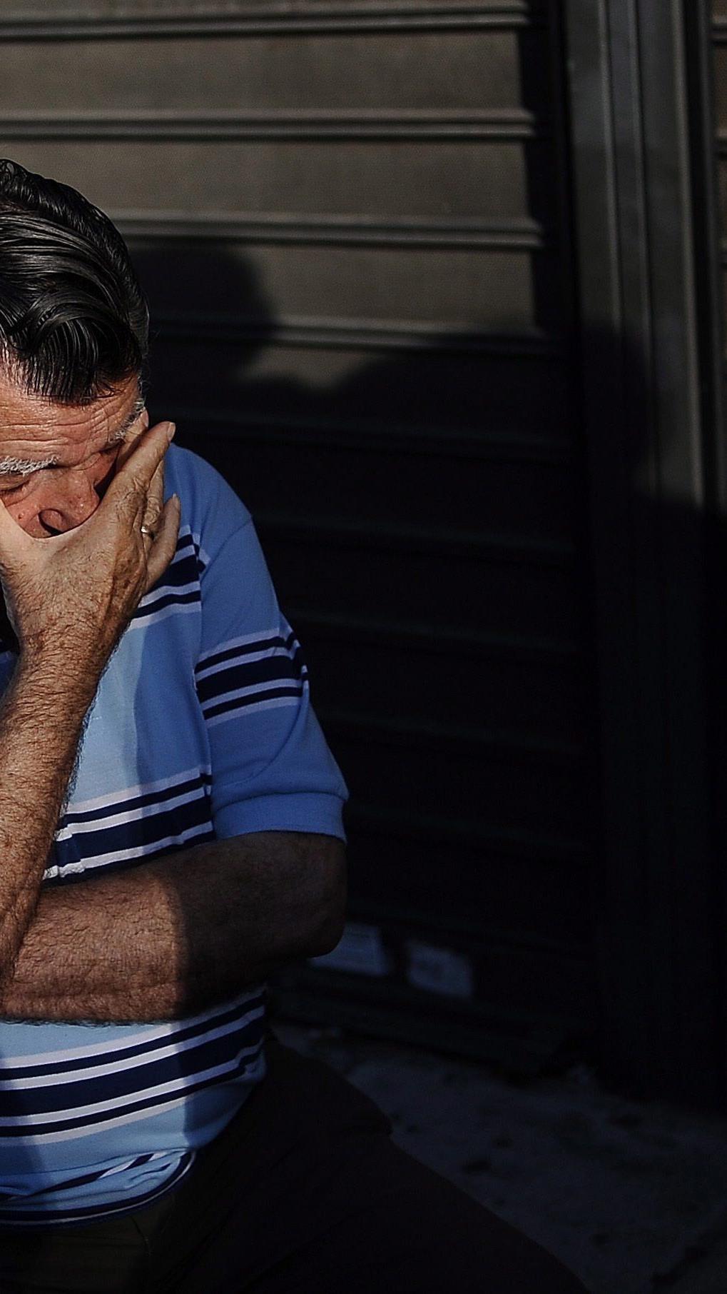 Verzweiflung in Griechenland.